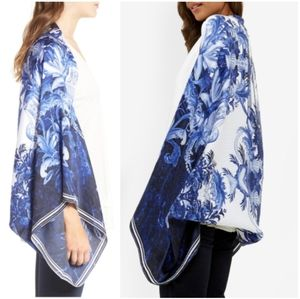 Accessories - 🍒NWT🍒 TED BAKER PERSIAN BLUE SILK CAPE SCARF